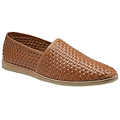 Frank Wright - Tan 'Taxi' mens slip on casual loafers