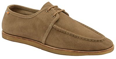 Frank Wright - Cognac 'Rutland' lace up suede moccasins
