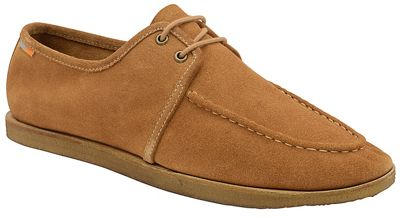 Frank Wright - Rust 'Rutland' lace up suede moccasins