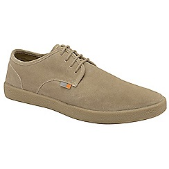 Frank Wright - Sand 'Lomond' lace up suede shoes