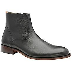 Frank Wright - Black 'Hardin' men's slip on desert boots