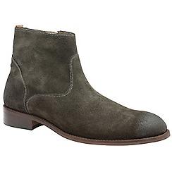 Frank Wright - Dark grey 'Hardin' men's slip on desert boots