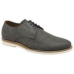 Frank Wright - Black 'Young' canvas lace up derby shoes