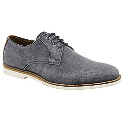 Frank Wright - Navy 'Young' canvas lace up derby shoes
