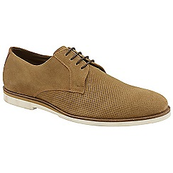 Frank Wright - Tan 'Rudd' lace up suede derby shoes