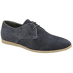 Frank Wright - Navy 'Arabian' lace up suede derby shoes