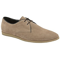 Frank Wright - Biscuit 'Arabian' lace up suede derby shoes