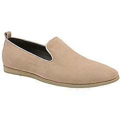 Frank Wright - Dust Pink 'Dartmoor' slip on suede loafers