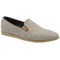 Frank Wright - Grey 'Shire' slip on casual canvas loafers