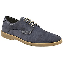 Frank Wright - Navy 'Woburn' lace up derby shoes