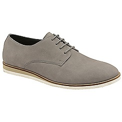 Frank Wright - Grey 'Detroit' lace up casual derby shoes