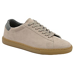 Frank Wright - Sand 'Tigers' lace up casual trainers