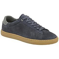 Frank Wright - Navy 'Tigers' lace up casual trainers