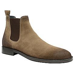 Frank Wright - Taupe 'Wyatt' men's slip on chelsea boots