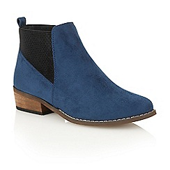 Dolcis - Blue 'Janet' heeled ankle boots