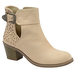 Dolcis - Sand 'Beth' ladies heeled ankle boots