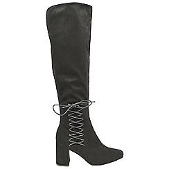 Dolcis - Black 'Emma' block heeled ladies boots