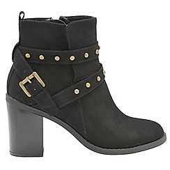 Dolcis - Black 'Piper' ladies high heeled ankle boots