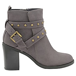 Dolcis - Grey 'Piper' ladies high heeled ankle boots