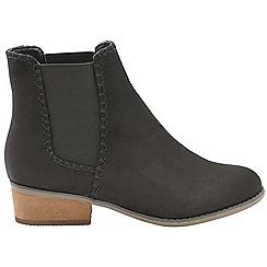 Dolcis - Black 'Pasha' ladies block heel slip on boots