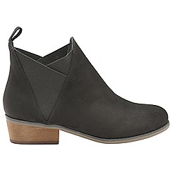 Dolcis - Black 'Ronni' ladies slip on gusset ankle boots
