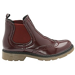 Dolcis - Burgundy 'Winlove' ladies slip on gusset boots
