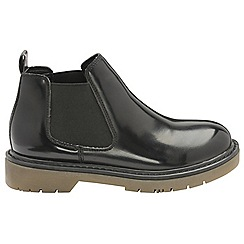 Dolcis - Black 'Robby' ladies slip on gusset ankle boots