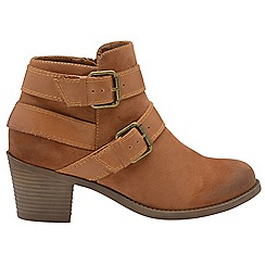 Dolcis - Tan 'Quincy' ladies slip on ankle boots