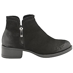 Dolcis - Black 'Roddy' ladies block heeled ankle boots