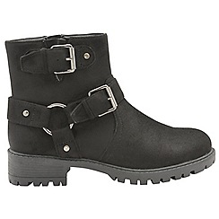 Dolcis - Black 'Davis' chunky soled ladies ankle boots
