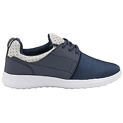 Dolcis - Navy 'Rene' ladies lace up casual trainers