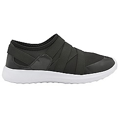 Dolcis - Black 'Newel' ladies slip on casual trainers