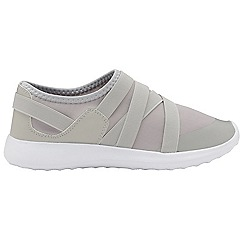 Dolcis - Grey 'Newel' ladies slip on casual trainers