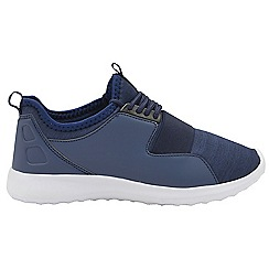 Dolcis - Navy 'Terry' ladies lace up casual trainers