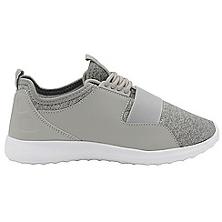 Dolcis - Grey 'Terry' ladies lace up casual trainers
