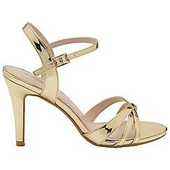 Dolcis - Gold 'Belinda' stiletto heeled open toe sandals