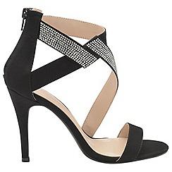 Dolcis - Black 'Victoria' ladies strappy stiletto sandals
