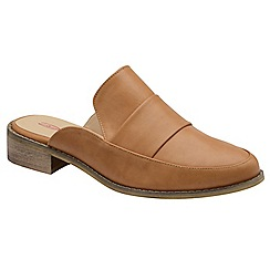 Dolcis - Tan 'Dunne' ladies slip on comfort fit mules