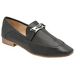 Dolcis - Black 'Jolie' ladies slip on loafers