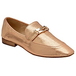 Dolcis - Rose Gold 'Jolie' ladies slip on loafers