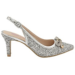 Dolcis - Silver 'Aylee' stiletto heeled ladies sandals