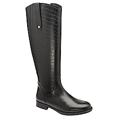 Ravel - Black 'Hyder' flat knee high boots