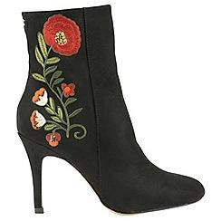 Ravel - Black 'Cedar' ladies stiletto heeled ankle boots