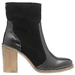 Ravel - Black 'Northport' ladies block heeled ankle boots