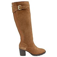 Ravel - Tan 'Elberta' ladies knee high zip up boots