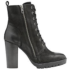 Ravel - Black 'Alverstone' ladies zip up ankle boots