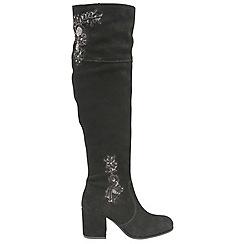 Ravel - Black 'Ludlow' ladies knee high heeled boots