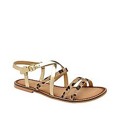 8b8fdfea765 Ravel - Leopard print  Manatee  leather flat sandals