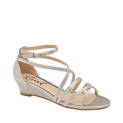 Ravel - Silver 'Rosa' strappy wedge sandals