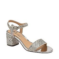 Ravel - Silver 'Walton' open-toe wedge sandals